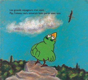 Page 2 de l'album Pip vole, éditions Un chat la nuit