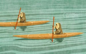 Banquise-pages-inuits-canoe